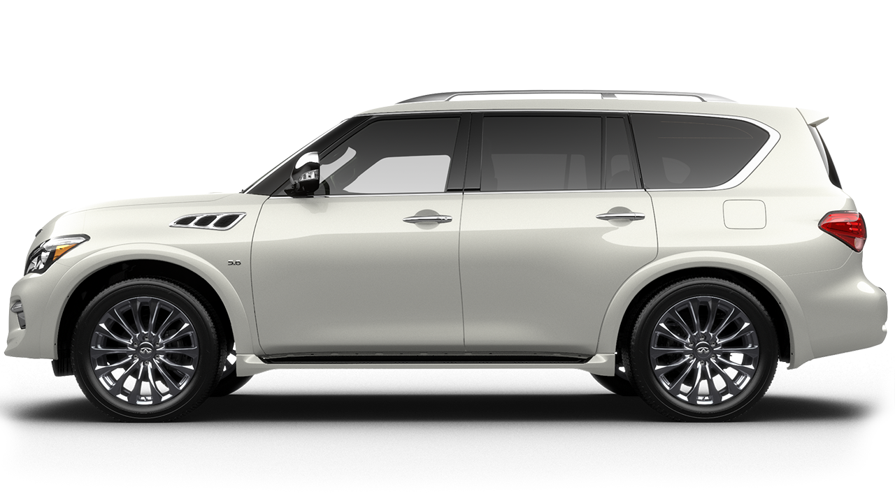 a 2017 infiniti qx80 in raleigh nc dealer crossroads infiniti of raleigh majestic white extra. Black Bedroom Furniture Sets. Home Design Ideas