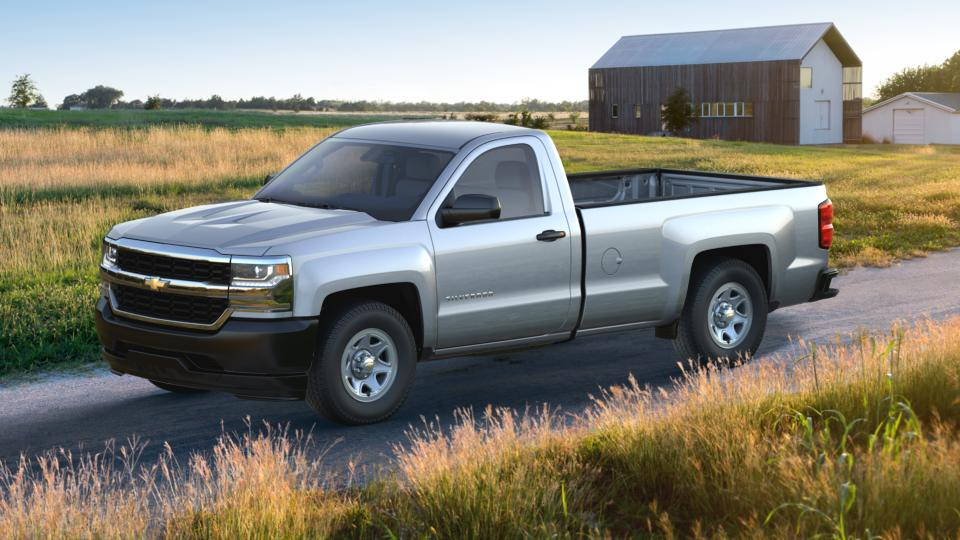 new 2017 silver ice metallic chevrolet silverado 1500 regular cab long box 2 wheel drive wt for. Black Bedroom Furniture Sets. Home Design Ideas