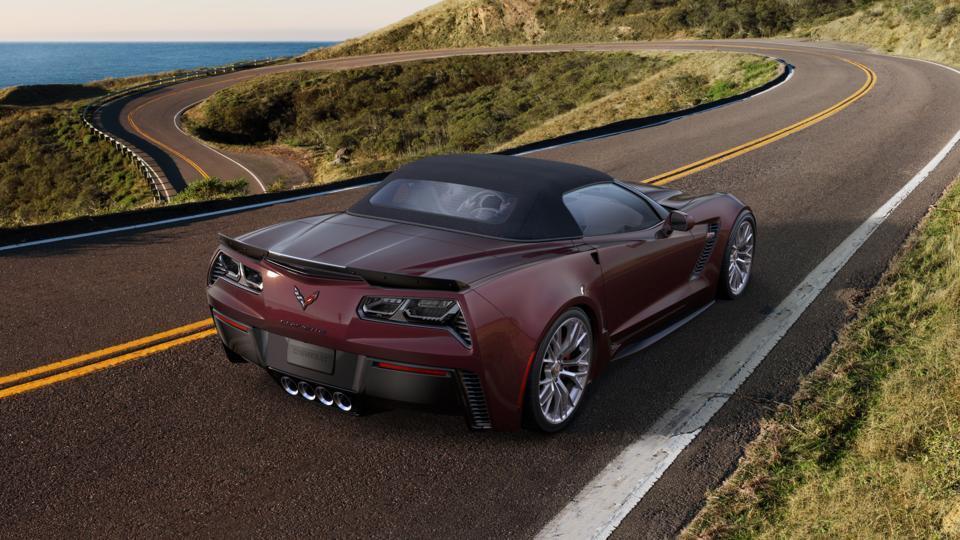 2017 Chevrolet Corvette New Black Rose Metallic Car for
