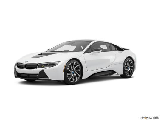 2016 BMW i8 in Crystal White Pearl Metallic w/Frozen Gray Accent