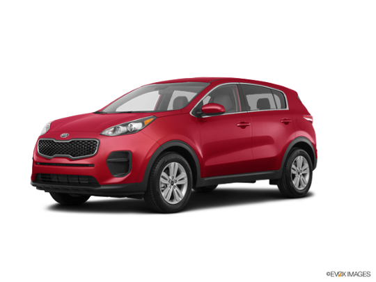2017 Kia Sportage in Hyper Red
