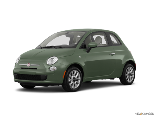 2017 FIAT 500 in Verde Chiaro (Light Green)