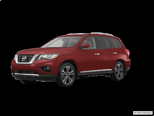 2017 Nissan Pathfinder in Cayenne Red Metallic