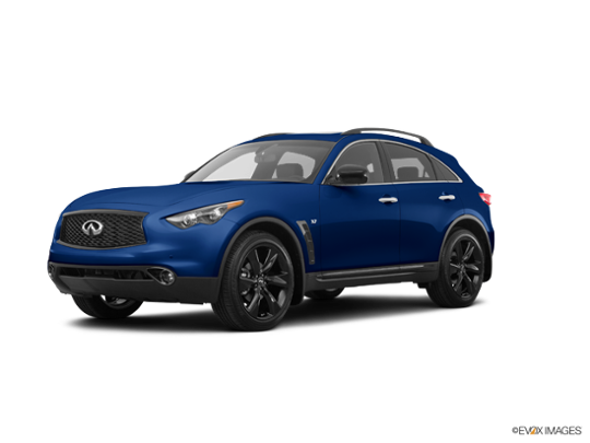 2017 INFINITI QX70 in Iridium Blue