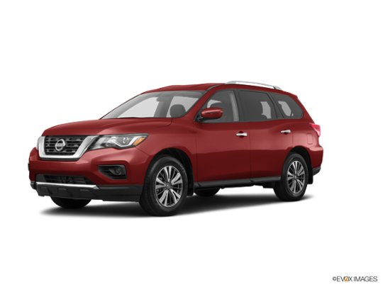 2017 Nissan Pathfinder in Cayenne Red Metallic