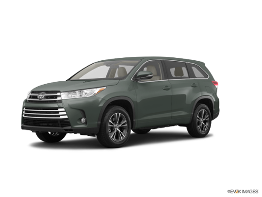 2017 Toyota Highlander in Alumina Jade Metallic