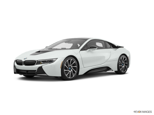 2017 BMW i8 in Crystal White Pearl Metallic w/Frozen Gray Accent