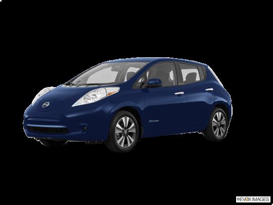 2017 Nissan LEAF in Deep Blue Pearl
