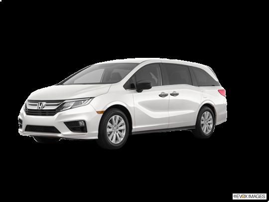 2018 Honda Odyssey in White Diamond Pearl