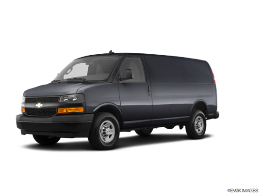 2018 Chevrolet Express Cargo Van in Satin Steel Gray Metallic