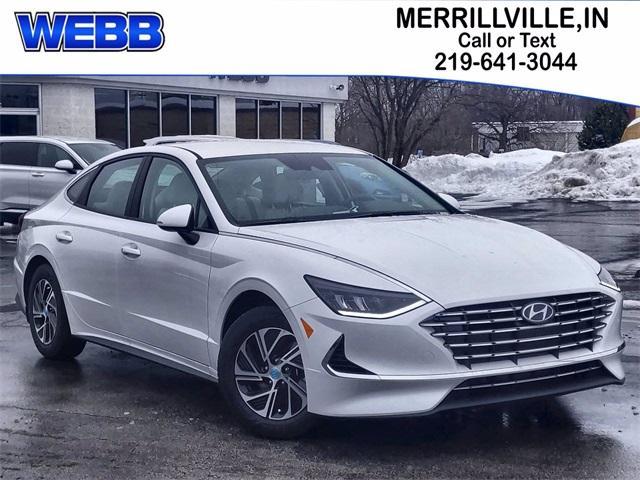 2021 Hyundai Sonata Hybrid Vehicle Photo in Merrillville, IN 46410