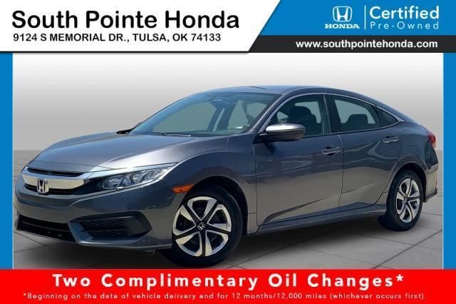 2017 Honda Civic Sedan Vehicle Photo in Tulsa, OK 74133