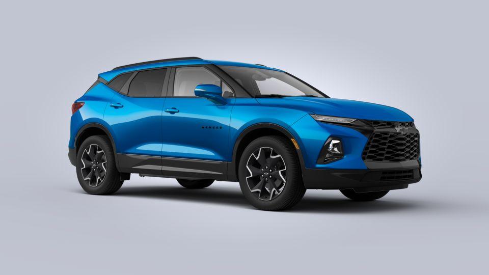 new 2020 chevrolet blazer rs in bright blue metallic for
