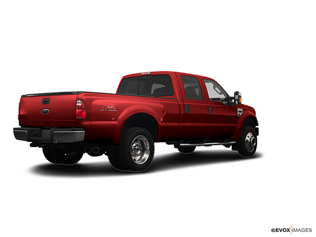 2008 red 4wd crew cab 8 ft box lariat ford super duty f for Bayer motor company ford