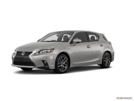 2017 Lexus CT 200h In Atomic Silver W/Black Roof